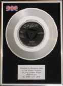 "JERRY LEE LEWIS - 7"" Platinum Disc -BREATHLESS"
